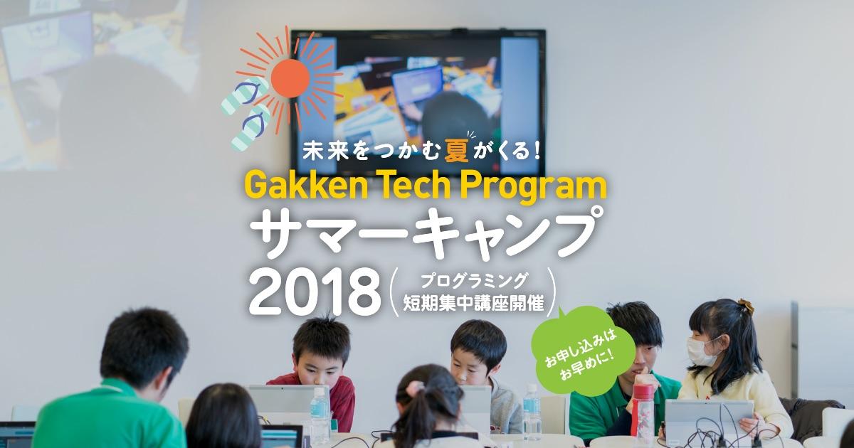 プログラミングサマーキャンプ開催!